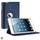 iPad Mini 3 Hoes Cover Multi-stand Case 360 graden draaibare Beschermhoes donker blauw