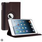 iPad Mini 3 Hoes Cover Multi-stand Case 360 graden draaibare Beschermhoes bruin