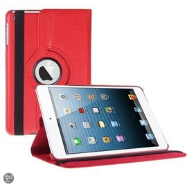 Ntech iPad Mini 3 Hoes Cover Multi-stand Case 360 graden draaibare Beschermhoes rood