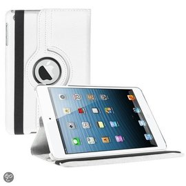 Ntech iPad Mini 3 Hoes Cover Multi-stand Case 360 graden draaibare Beschermhoes Wit
