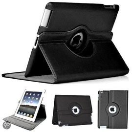 Ntech Luxe 360 graden Protect cover case voor iPad 2 / 3 / 4 Zwart