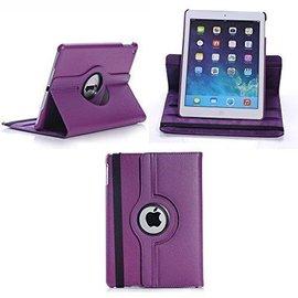 Ntech Apple iPad Air 2 Case, 360 graden draaibare Hoes, Cover met Multi-stand Kleur Paars