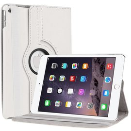 Ntech Apple iPad Air 2 Case, 360 graden draaibare Hoes, Cover met Multi-stand Kleur Wit