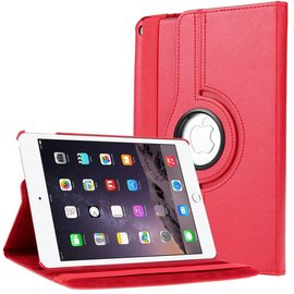 Ntech Apple iPad Air 2 Case, 360 graden draaibare Hoes, Cover met Multi-stand Kleur Rood