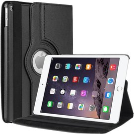 Ntech Apple iPad Air 2 Case, 360 graden draaibare Hoes, Cover met Multi-stand Kleur Zwart