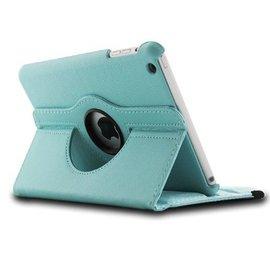 Ntech iPad Mini / Mini 2 Case, 360 Graden Draaibare Hoes Cover met Multi-Stand Licht Blauw