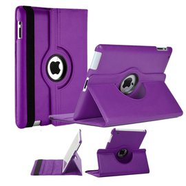 Ntech Apple iPad Mini / Mini 2 Case, 360 graden draaibare Hoes, Cover met Multi-stand Paars