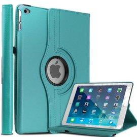 Ntech Apple iPad Air 2 Case, 360 graden draaibare Hoes, Cover met Multi-stand Kleur Licht Blauw