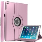 Apple iPad Air 2 Case, 360 graden draaibare Hoes, Cover met Multi-stand Licht Roze