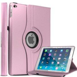 Ntech Apple iPad Air 2 Case, 360 graden draaibare Hoes, Cover met Multi-stand Licht Roze