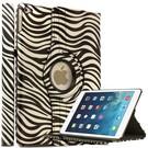 Apple iPad Air 2 Case, 360 graden draaibare Hoes, Cover met Multi-stand Zebra