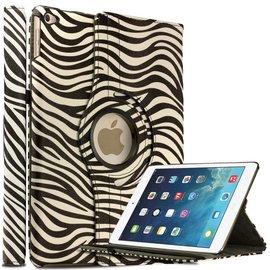 Ntech Apple iPad Air 2 Case, 360 graden draaibare Hoes, Cover met Multi-stand Zebra