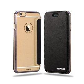 Xundd XUNDD iPhone 6 / iPhone 6S (4,7 inch) Flip Case met transparent Back Cover Zwart