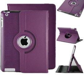 Ntech iPad Air 360 Graden Hoes Cover Beschermhoes Paars