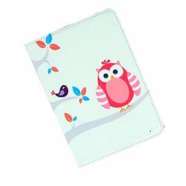Ntech iPad mini 1 / 2 / 3 draaibaar hoes vogels in boom