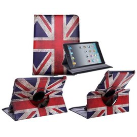 Ntech Apple iPad Mini / Mini 2 / Mini 3 Case 360° draaibare Hoes Cover met Multi-stand UK Flag