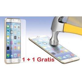 Ntech GRATIS 1 + 1  -  iPhone 6 / 6S  Glazen tempered glass / Screen protector 2.5D 9H (0.3mm) - Ntech