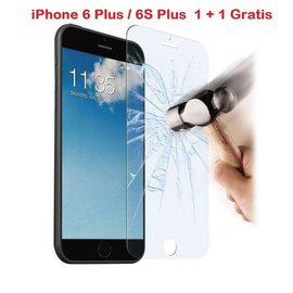 Ntech iPhone 6 Plus / 6S Plus 1 + 1 GRATIS Glazen tempered glass / Screen protector