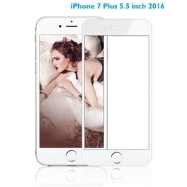 Ntech iPhone 8 Plus / 7 Plus 5.5 inch Anti-Scratch Full Screen Coverage Tempered Glass - Wit
