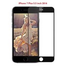iPhone 7 Plus 5.5 inch full screen coverage tempered glass zwart