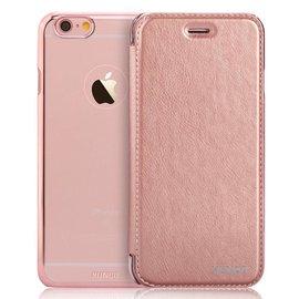 Xundd iPhone SE / 5 / 5S Folio Flip PU Leather hoesje met hard transparant back cover Rose Goud