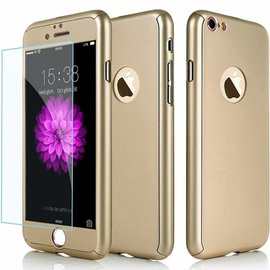 "Ntech Full Body Slim Fit 360 graden Lichtgewicht harde beschermende huid hoesje Case voor iPhone 7 4.7 "" Champagne Goud"