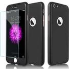 """Ntech Full Body Slim Fit 360 graden Lichtgewicht harde beschermende huid hoesje Case voor iPhone 7 4.7 """" Zwart"""