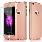 Slim Fit 360 graden Lichtgewicht harde beschermende huid hoesje Case voor iPhone 7 Plus 5.5 inch Rose Goud