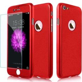 Ntech Slim Fit 360 graden Lichtgewicht harde beschermende huid hoesje Case voor iPhone 7 Plus 5.5 inch Rood
