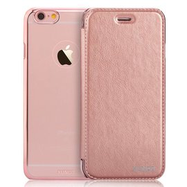 Xundd iPhone 6 / 6S 4,7 inch Folio Flip PU Leather hoesje met hard transparant back cover Rose Goud