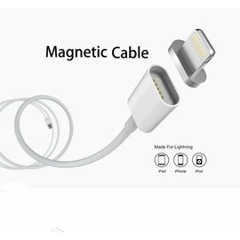 Merkloos Magnetisch 1 meter data oplader en Lightning kabel voor iPhone 7 / 7 Plus / iPhone 6 / 6 Plus / 6S / 6S Plus / iPhone 5 / iPhone 5C / iPhone 5S / iPad Series  sliver