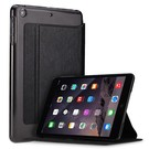 iPad Mini / Mini 2 / Miini 3 Folio Flip PU Leather hoesje met transparant back cover Zwart