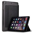 Xundd iPad Mini / Mini 2 / Miini 3 Folio Flip PU Leather hoesje met transparant back cover Zwart