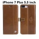 Pierre Cardin - Apple iPhone 7 Plus Lederen Cover Hoes - Bruin