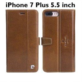 Pierre Cardin Pierre Cardin iPhone 7 Plus Lederen Cover Hoes Bruin