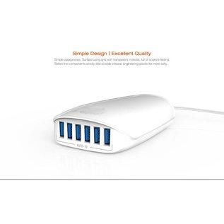 Ldnio LDNIO Oplader A6573 - 6 USB Poorten - 5.4A - Wit