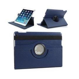Ntech Ntech iPad Air 360 Graden Draaibare Hoes Lederen Donker Blauw
