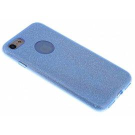 Ntech Blauwe Glitter TPU Hoejse iPhone 8 / 7