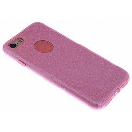 Ntech Roze Glitter TPU Hoesje iPhone 8 / 7