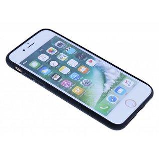 Nuoku Zwart Magnetic Auto & Ring houder TPU Hoesje iPhone 8 / 7