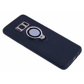 Nuoku Nuoku Zwart Magnetic Auto & Ring houder TPU Hoesje Samsung Galaxy S8 Plus