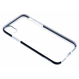 Puloka Puloka Zwart Transparant Anti Drop Shock TPU Hoesje iPhone X / Xs