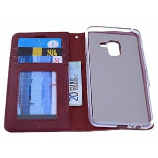 Bordeaux Book Case Kunstleer & TPU Hoesje Samsung Galaxy A5 (2018)