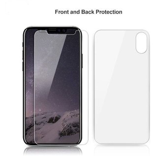 Clear Tempered Glass Voor en Achter iPhone X