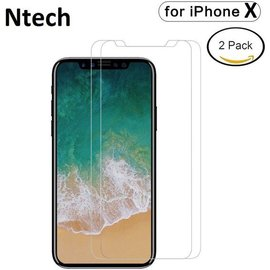 Merkloos 2 Pack Glazen Tempered Glass / Screen Protector iPhone X / Xs (10)