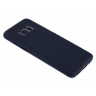 Merkloos Zwarte Krokodil Hard Case Back Cover Hoesje Samsung Galaxy S8