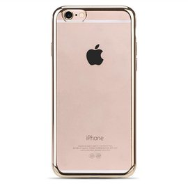 OU case Goud OU Case Ultra Dun Soft TPU Transparant Hoesje iPhone 6 / 6S