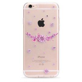 OU case OU Case 3D Roze Kleine Bloem Met Studs Soft TPU Hoesje voor de iPhone 6 / 6S Plus