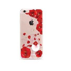OU case OU Case 3D Rode Bloem Met Studs Soft TPU Hoesje iPhone 6 / 6S Plus