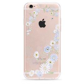 OU case OU Case 3D Blauwe Bloem Met Studs Soft TPU Hoesje iPhone 6 / 6S